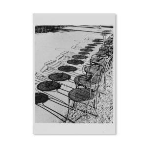 André Kertész - Chaises - Carte postale