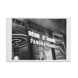 René-Jacques Cinéma à Pigalle, Paris, 1953